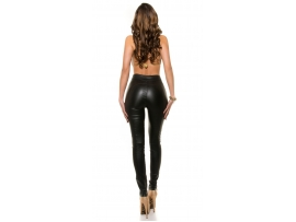 KOUCLA HIGHWAIST LEATHERLOOK HLAČE