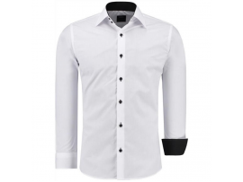 JEEL SLIM FIT SRAJCA Z DOLGIMI ROKAVI BUSINESS WHITE