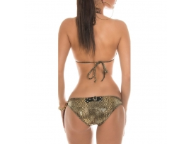 SEKSI TRIANGLE BIKINI BLACK-GOLD