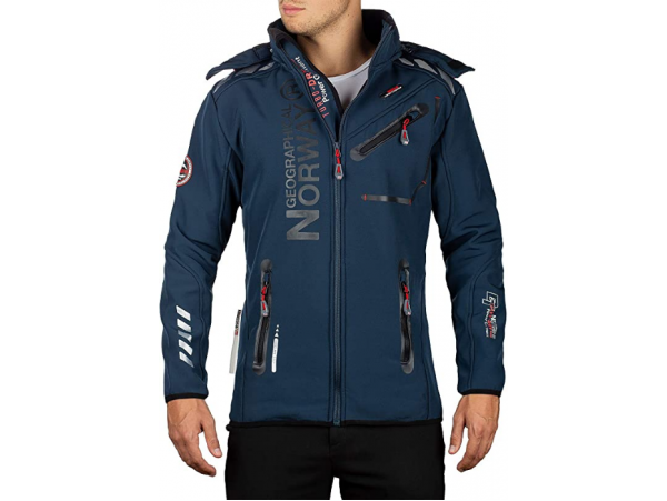 GEOGRAPHICAL NORWAY SOFTSHELL JAKNA ROYAUTE BS NAVY