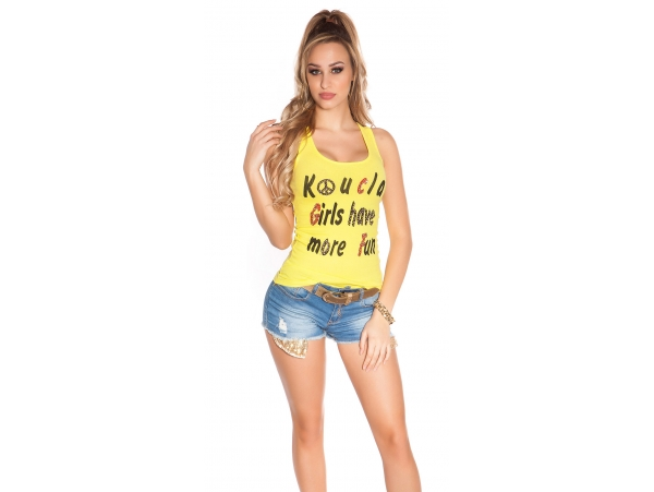 TANKTOP GIRLS HAVE MORE FUN YELLOW
