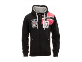 GEOGRAPHICAL NORWAY HODDED SWEAT JACKET FINAL BLACK