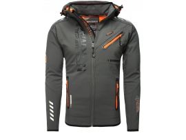 ELEGANTNA MOŠKA GEOGRAPHICAL NORWAY SOFTSHELL JAKNA RIVOLI DARK GREY