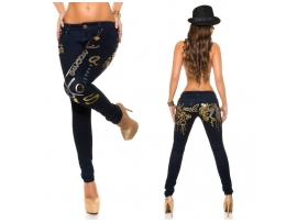 KOUCLA KAVBOJKE SKINNIES WITH PRINT DARKBLUE