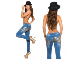 KOUCLA JEANS SKINNIES WITH PRINT JEANSBLUE