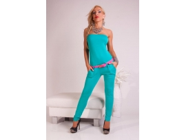 VICTORIA MODA BANDEAU OVERALL WITH BELT MINT
