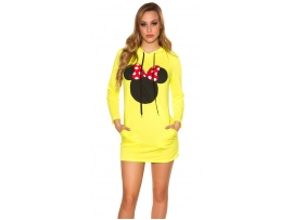 ŽENSKI PULOVER MICKEY MOUSE NEONYELLOW