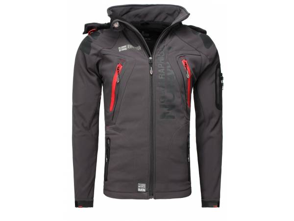 GEOGRAPHICAL NORWAY TECHNO SOFTSHELL FUNKTIONS OUTDOOR JAKNA D-GREY