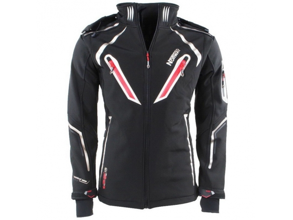 ELEGANTNA MOŠKA GEOGRAPHICAL NORWAY SOFTSHELL JAKNA TCHOUM 2019 BLACK