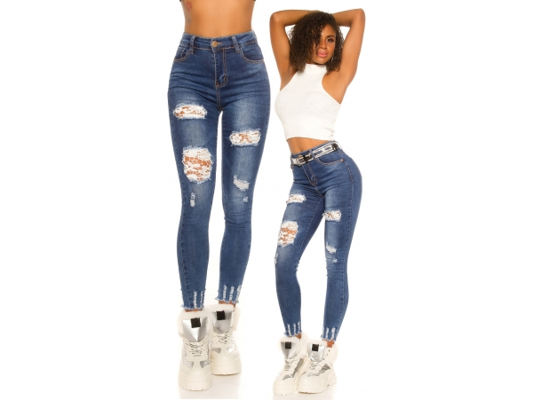 KOUCLA HIGHWAIST SKINNY JEANS WITH LACE