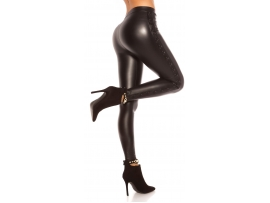 LEATHERLOOK LEGGINS BLACK