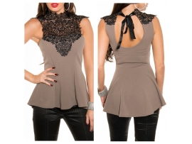 KOUCLA TOP MY LACE CAPPUCCINO