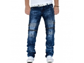 KOSMO LUPO DESTROYED JEANS THUNDER BLUE